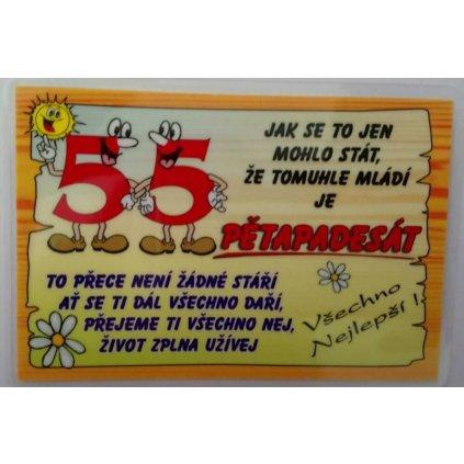 Vtipné přání k narozeninám - 55 let