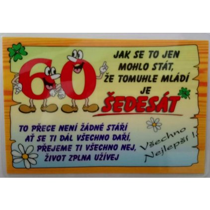 Vtipné přání k narozeninám - 60 let
