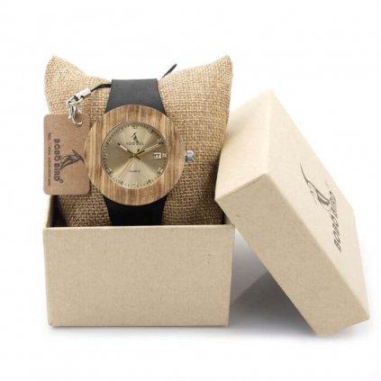 Drevené hodinky Clarie natural