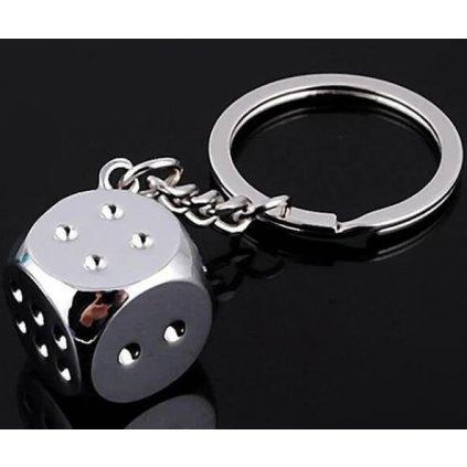 Přívěšek na klíče hrací kostka