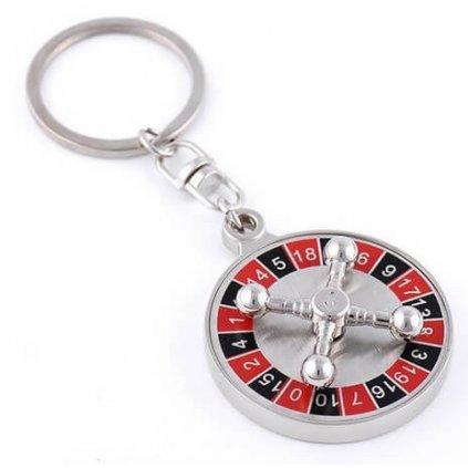 Přívěšek na klíče casino ruleta