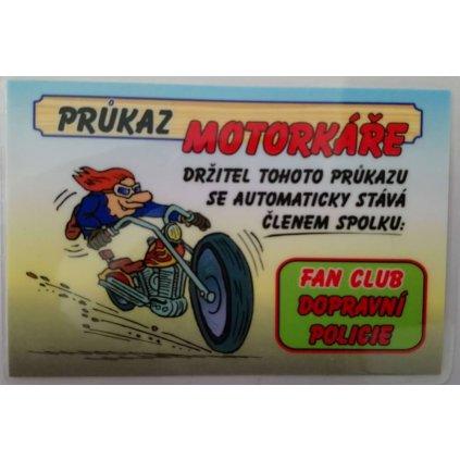 Průkaz - Motorkář