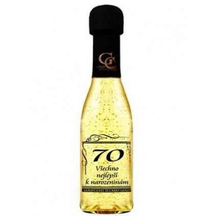 Šumivé víno se zlatem - 70 let
