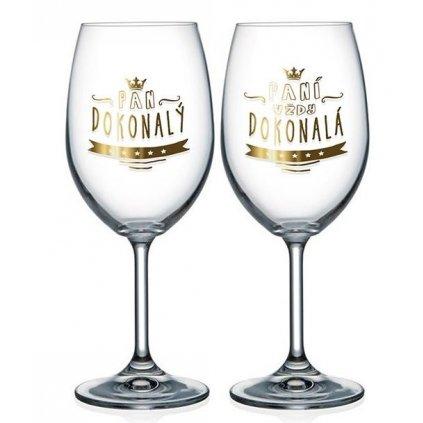 Párové poháre na víno Pán dokonalý a Paní dokonalá
