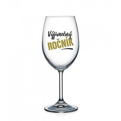 Sklenička na víno - Výjimečný ročník
