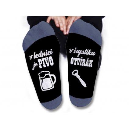 Pánské ponožky - V lednici je pivo
