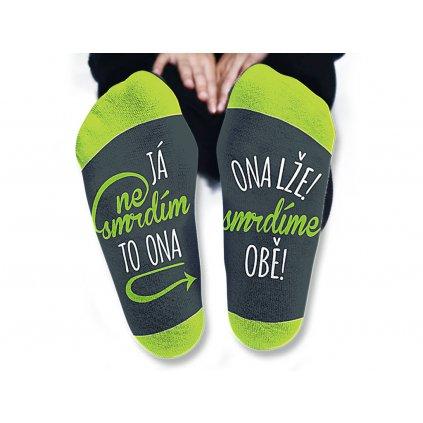 Dámske ponožky - Ja nesmrdím