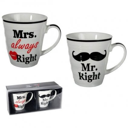 Set hrnčekov Mr. a Mrs. Right