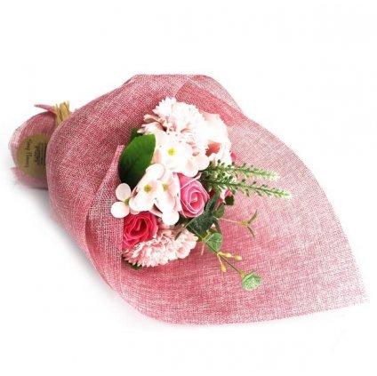 Mydlová kytica, ružová
