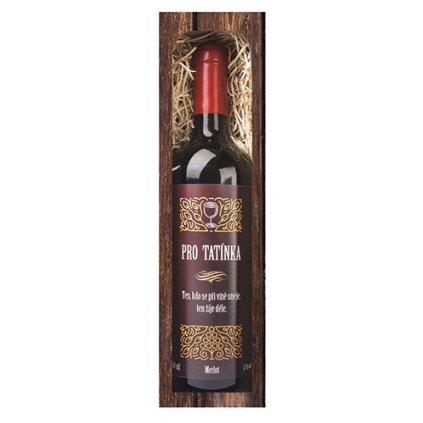 Darčekové víno oteckovi - červené