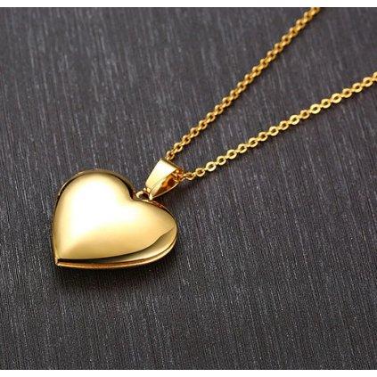 Otevírací medailon zlaté srdce