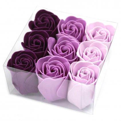 Mýdlové květy fialové 9 ks
