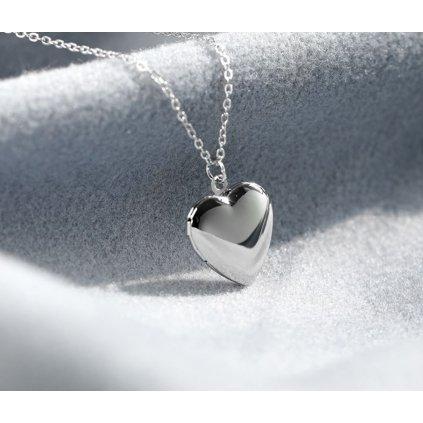 Mini otevírací medailon srdce