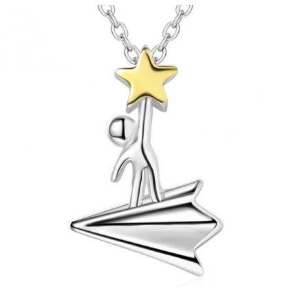 Řetízek s přívěskem- Vzhůru ke hvězdám