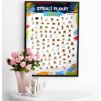 Stírací plakát 100 věcí co musíte zažít