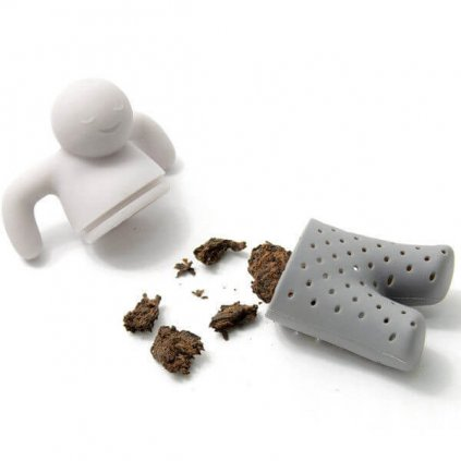 Sitko na lúhovanie čaju v tvare panáka Mr. Tea