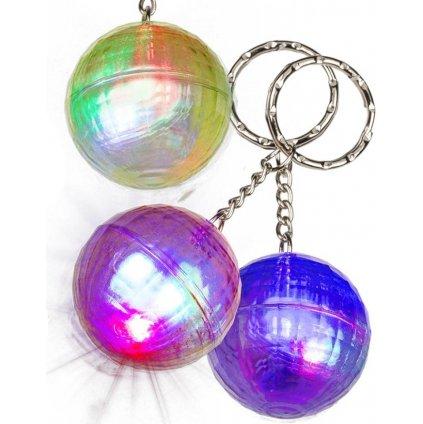 Přívěsek na klíče disko koule