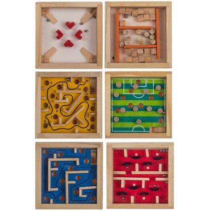 Dřevěný mini labyrint