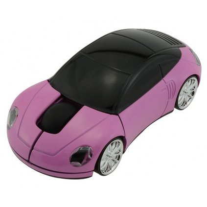 Optická myš auto růžová