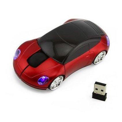 Optická myš, auto, červená
