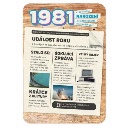 Retro přání z roku narození 1981