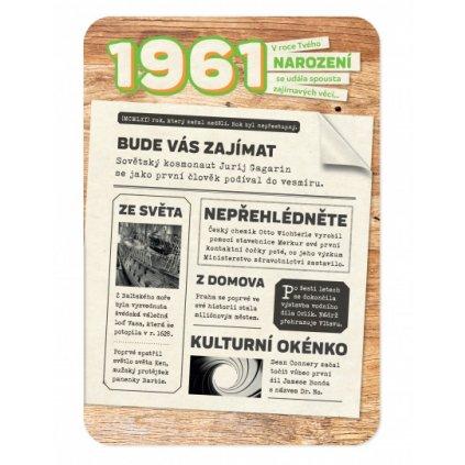 Retro přání z roku narození 1961