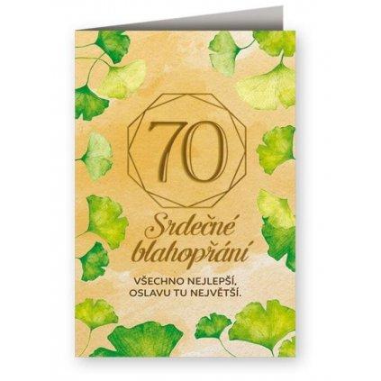 Srdečné blahopřání 70