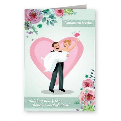 Přání novomanželům s plackou - Pan a paní
