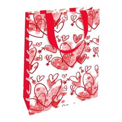 Darčeková taška, mini, Srdiečka