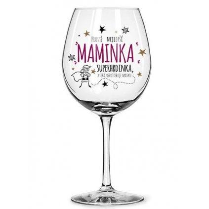 Sklenice na víno Nejlepší maminka