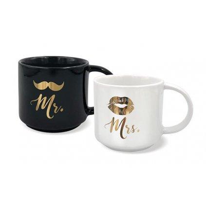 Párové hrnky Mr. a Mrs.