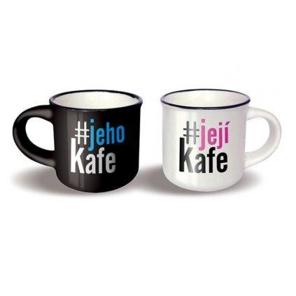 Párové mini hrníčky Jeho kafe a Její kafe