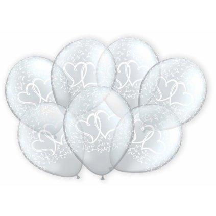 Svatební balonky srdíčka 7 ks