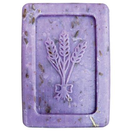 Mýdlo se sušenými květy levandule