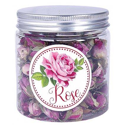 Sušená poupata růží v dóze