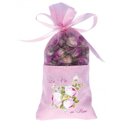 Sušená poupata růží plátěný sáček