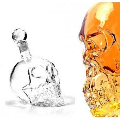 Alkoholová fľaša – lebka