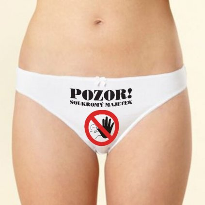 Kalhotky - Pozor, soukromý majetek - vel. L
