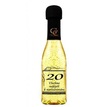 Šumivé víno se zlatem - 20 let
