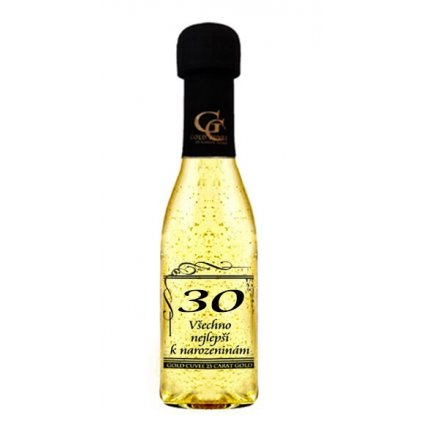 Šumivé víno se zlatem - 30 let