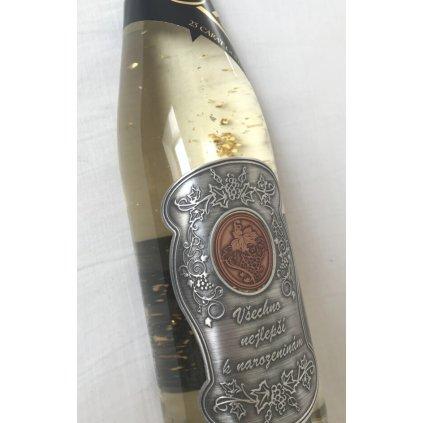 Šumivé víno se zlatem - narozeniny