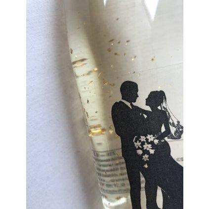 Šumivé víno se zlatem - svatební
