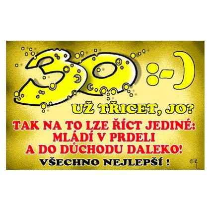 Vtipné přání - 30 let