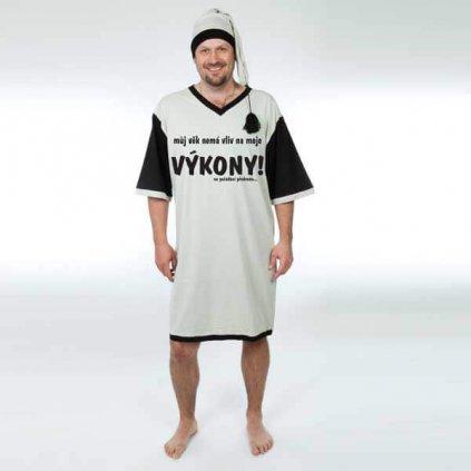Nočná košeľa – Môj vek nemá vplyv na moje výkony – vel. L