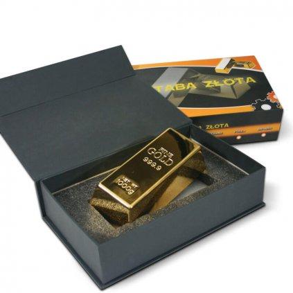 Zlatá darčeková tehla