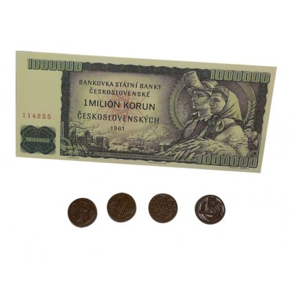 Čokoládová retro bankovka