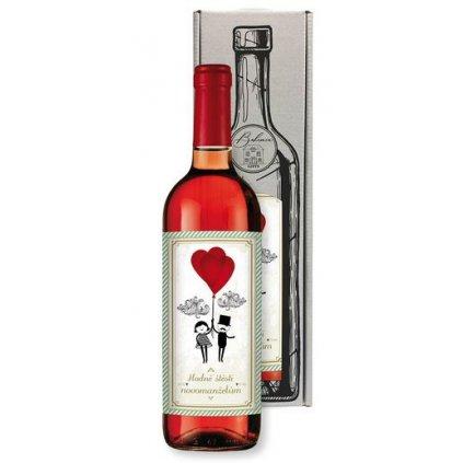 Darčekové víno – svadobné, rúžové