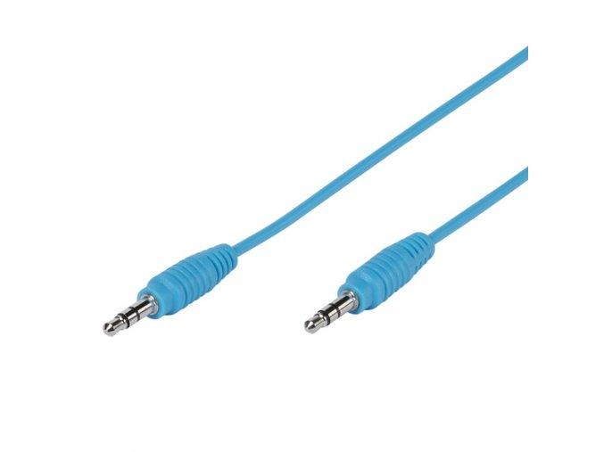 Audio kabel JACK/JACK 3.5mm - modrý