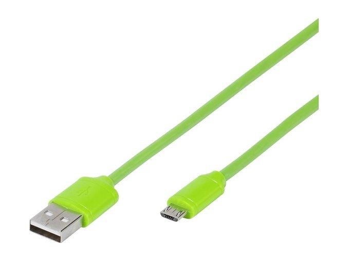 Kabel USB/micro USB 1m - zelený
