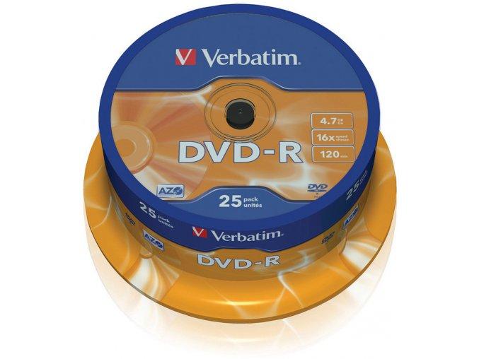 Verbatim DVD-R Matt Silver 25 cake